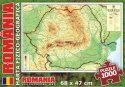 Geographic Map of Romania - 1000 piece puzzle
